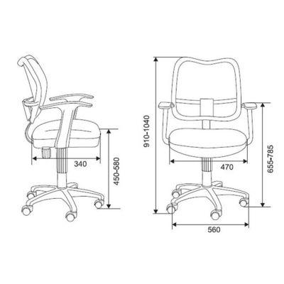 Офисное кресло Бюрократ CH-797AXNL Black (69574) CH-797AXNL/26-28
