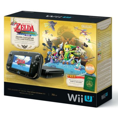 Игровая приставка Nintendo WiiU Premium Pack HW + The Legend of Zelda: Wind Waker HD (Download Code)