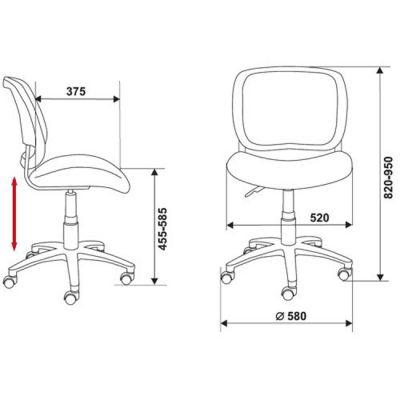 Офисное кресло Бюрократ CH-298AXN черный (69314) CH-298AXN/TW-11