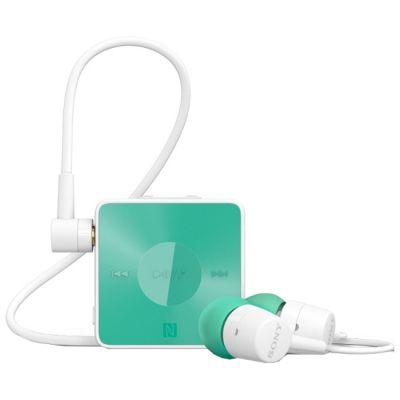 Гарнитура Sony SBH20 Bluetooth с поддержкой NFC и функцией HD Voice Аквамарин