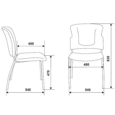 Офисное кресло Бюрократ посетителя (69262) KP-H320SXN