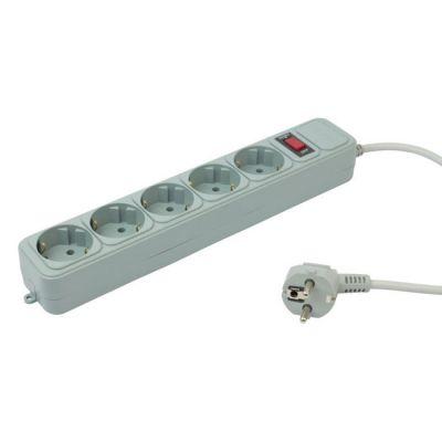 Сетевой фильтр Pc Pet AP01006-5-GR 5м (5 розеток) серый