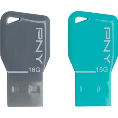 Флешка PNY 16GB USB Flash drive Key Attache (2 штуки в упаковке) FDU16GBKEYCOLX2-EF