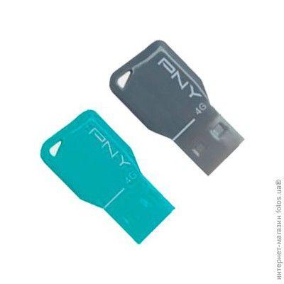 Флешка PNY 4GB USB Flash drive Key Attache (2 штуки в упаковке) FDU4GBKEYCOLX2-EF