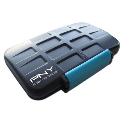 PNY Бокс для карт памяти Digital Camera Memory Card Case CASECF4SD8-RB