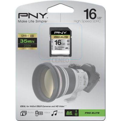 Карта памяти PNY 16GB SDHC UHC-1 PRO ELITE SD16GBHCU1ELI-EF
