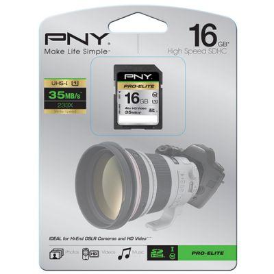 Карта памяти PNY 32GB SDHC UHC-1 PRO ELITE SD32GBHCU1ELI-EF