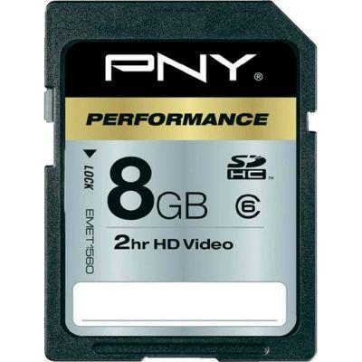 Карта памяти PNY 8GB SDHC class 6 SD8GBHC6-EF