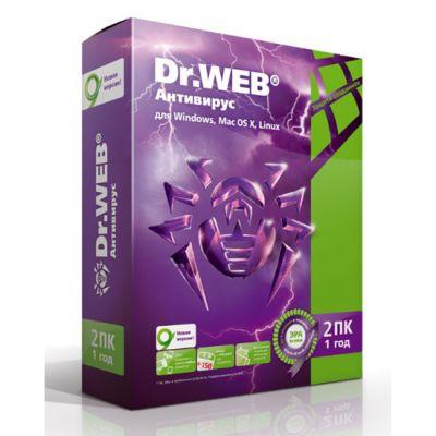 ��������� Dr.WEB 2 ��/1 ��� (0+) BHW-A-12M-2-A3