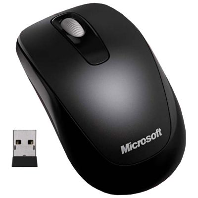 Мышь беспроводная Microsoft Wireless Mobile Mouse 1000 Black USB 2CF-00047
