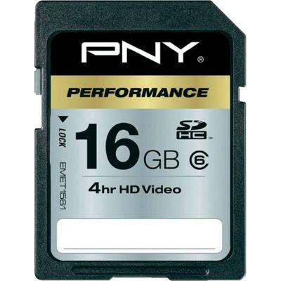 Карта памяти PNY 16GB SDHC class 6 SD16GBHC6-EF