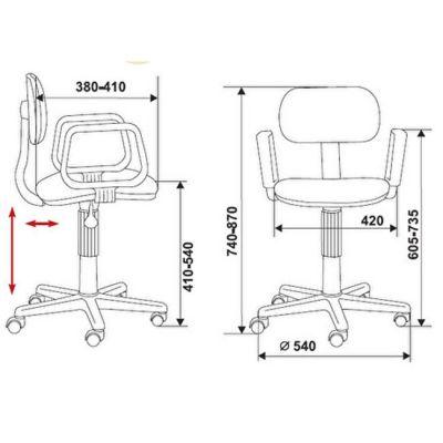 Офисное кресло Бюрократ формула1 зеленый (69280) CH-201AXN/RACE-GR