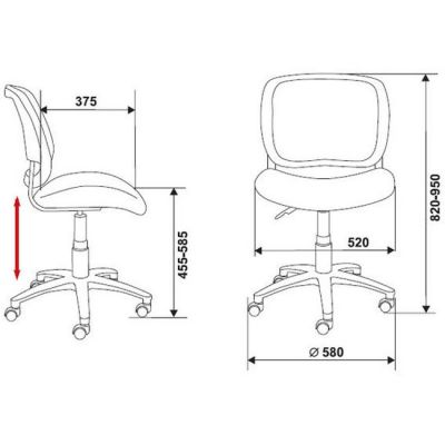 Офисное кресло Бюрократ CH-297NX темно-голубой (69312) CH-297NX/12-10