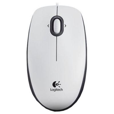 Мышь проводная Logitech B100 Optical USB Mouse White 910-003360