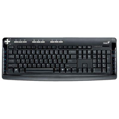 Клавиатура A4Tech Genius Comfy KB-350e black PS/2(21 доп.клавиш, влагоустойчивая, подставка для рук) G-KB350e USB