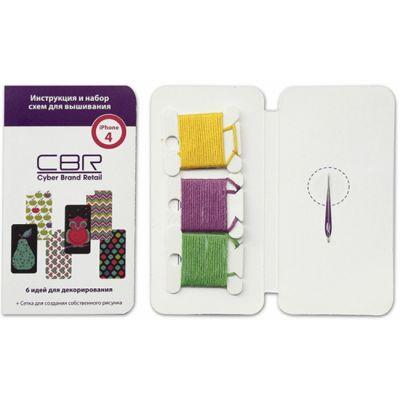 Чехол CBR набор для вышивания iPhone 4 и 4S Black FD 374-4