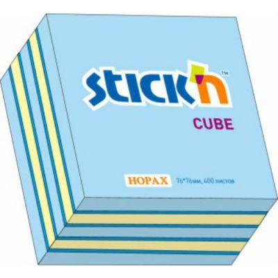 Hopax Cамоклеящийся блок Hopax 76*76 400л 3 цвета (неон+пастель) (822701)