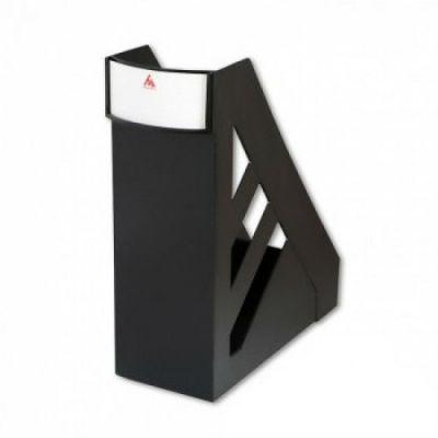 Бюрократ Лоток для бумаг вертикальный Классик, ширина 100м, черный BLT02