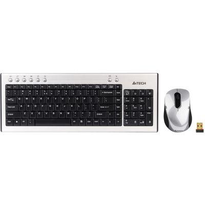 Комплект A4Tech 7500N Silver USB Клавиатура+Мышь (GX-68+G7-630N)