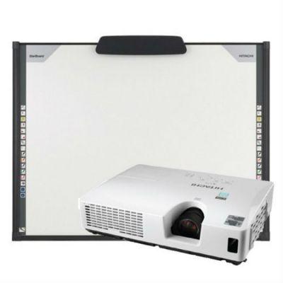 Интерактивная доска Hitachi комплект интерактивная доска Hitachi FX-TRIO88 + широкоформатный портативный проектор Hitachi CP-WX8