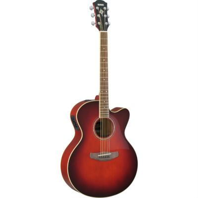 Электроакустическая гитара Yamaha CPX500II Dark red burst