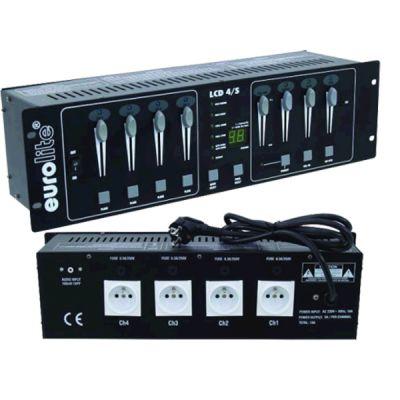 Eurolite Пульт-диммер 4-канальный LCD-4/SF