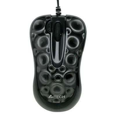 Мышь проводная A4Tech dot optical GLaser 2X Click USB Black X6-55D-2