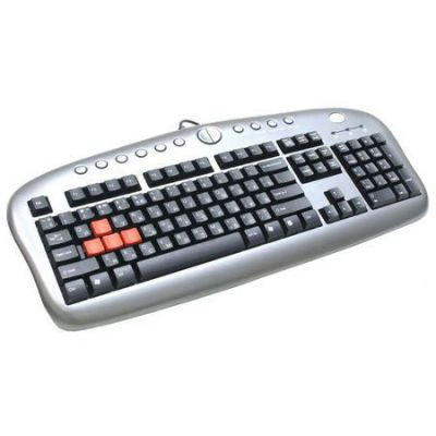 Клавиатура A4Tech USB with keys (exchange keycap) silver / black KB-28G-2