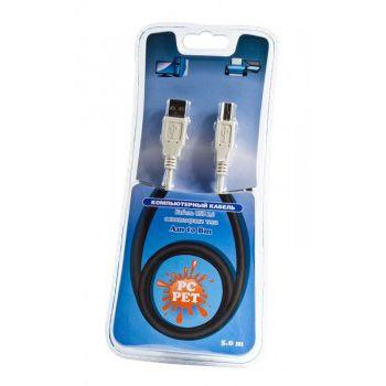 Кабель Pc Pet интерфейсный USB 2.0 Am-Bm 5.0m USABM00-50