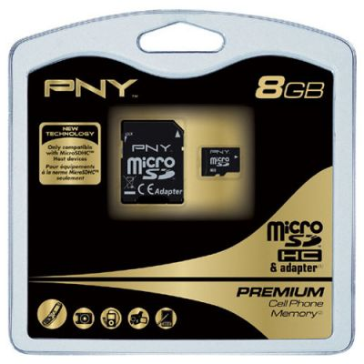 Карта памяти PNY microSD Class4 Premium 8GB SDU8G4APRE-R