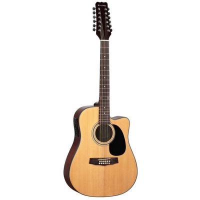 Электроакустическая гитара Martinez 12-ти струнная FAW-802-12CEQ N