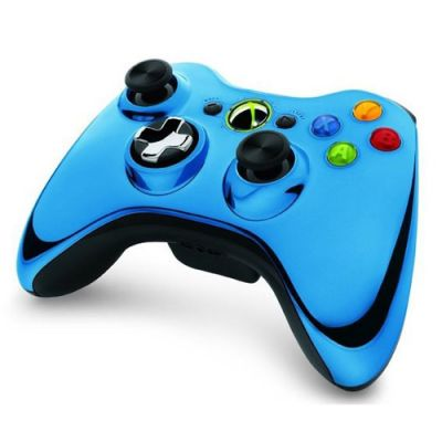 Microsoft Геймпад Xbox 360 беспроводной Blue 43G-00024
