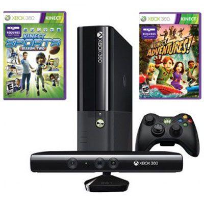 ������� ��������� Microsoft Xbox 360 4Gb Black+ Kinect+ ����