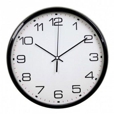 Настенные часы Бюрократ аналоговые WallC-R07P/black