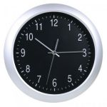 Настенные часы Бюрократ аналоговые WallC-R02P/silver