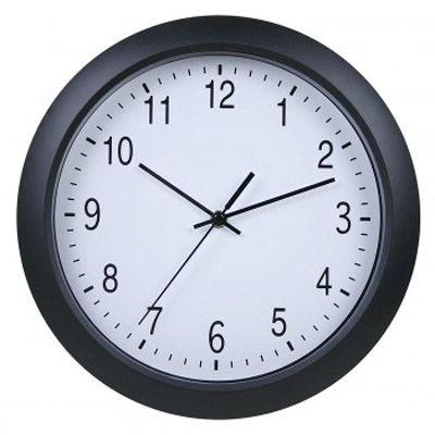Настенные часы Бюрократ аналоговые WallC-R02P/black