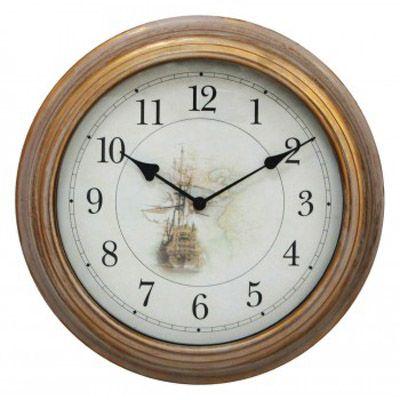 Настенные часы Бюрократ аналоговые WallC-R54P/beige