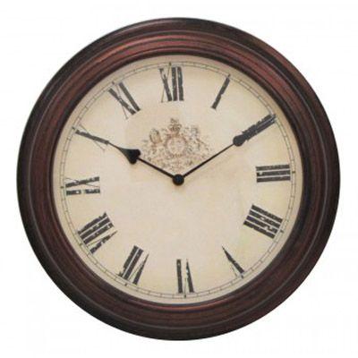 Настенные часы Бюрократ аналоговые WallC-R53P/dbrown