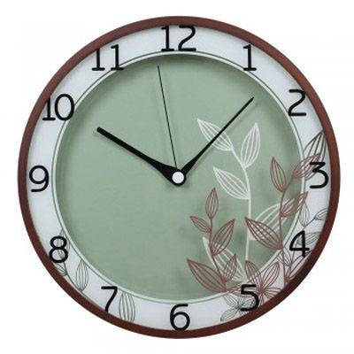 Настенные часы Бюрократ аналоговые WallC-R22W/walnut
