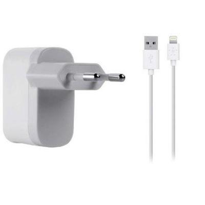 Адаптер питания Belkin Usb 2,1A+Lightning cable White для iPad/iPhone/iPod F8J100vf04-WHT