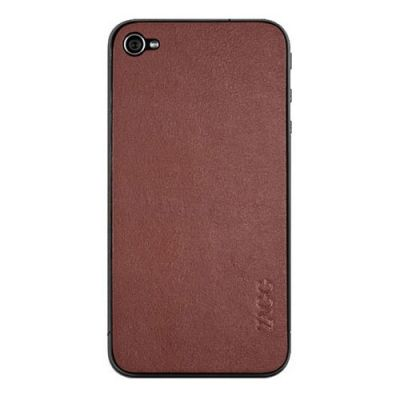 Zagg наклейка для iPhone 4/4S LEATHERskin Brown LSBRNZAGG73