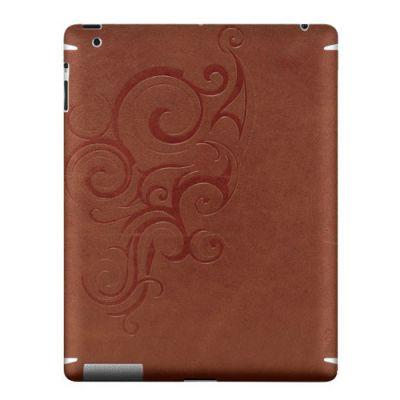 Zagg �������� LEATHERskin ��� iPad2/New Brown embossed LSBRNFLZL101