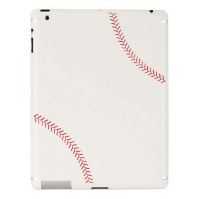 Zagg наклейка sportLEATHER для iPad2/New baseball LSWHTBAS101