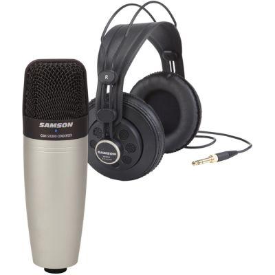 Микрофон Samson вокальный + наушники C01/SR850