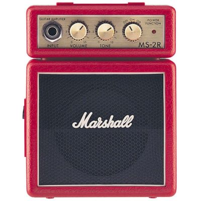 Комбоусилитель Marshall гитарный MS-2R-E MICRO AMP (RED)