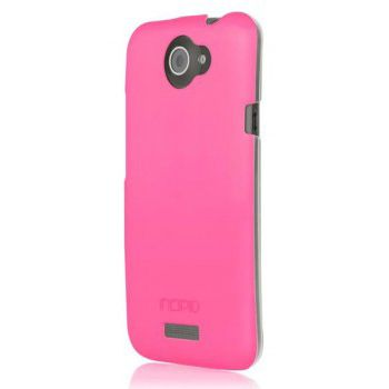 Incipio клип-кейс для HTC One X Feather Shine Pink Neon/clear HT-306