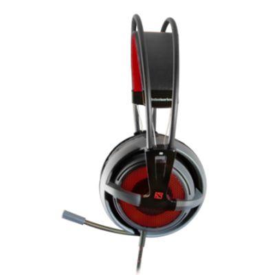 Наушники с микрофоном SteelSeries Siberia V2 DOTA 2 Edition черный/красный