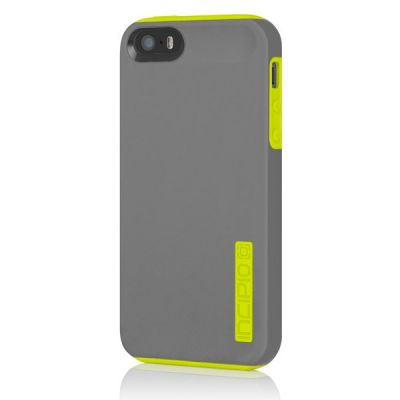 Incipio накладка для iPhone 5 Dual PRO Charcoal Gray / Citron Yellow IPH-819
