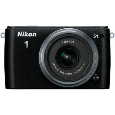 Компактный фотоаппарат Nikon 1 S1 Kit 11-27.5mm/Black [VVA191K005]
