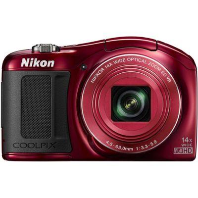Компактный фотоаппарат Nikon Coolpix L620/Red [VNA471E1]